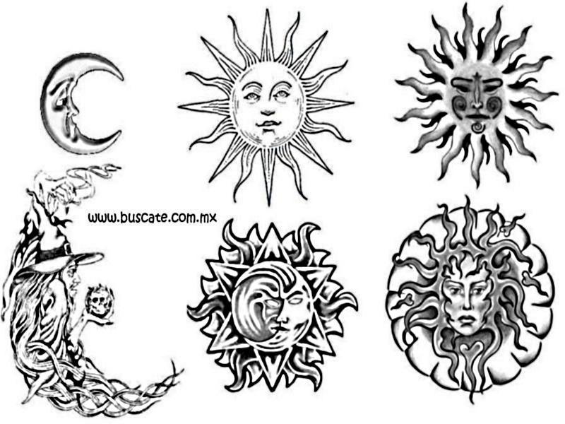 Tatuajes Estrellas Lunas Soles